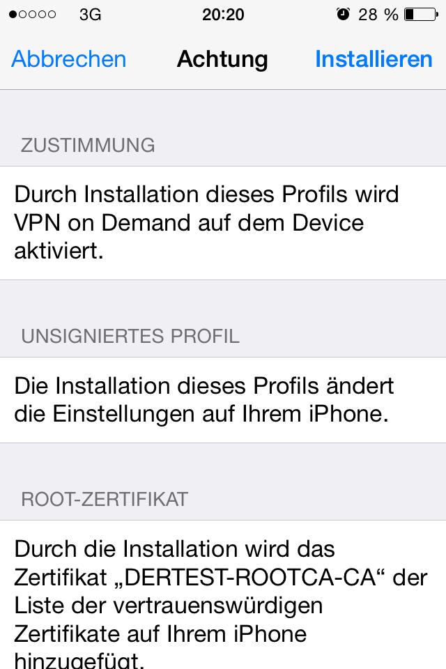 Profil Installieren