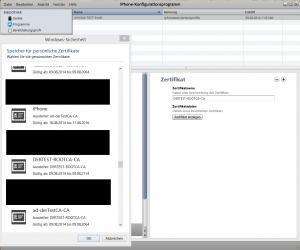 """Root Zertifikat """"Der-Test-RootCA"""" importieren"""