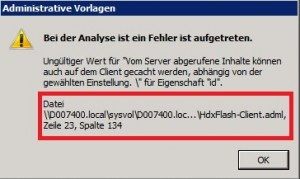 Citrix Receiver ADML Fehler