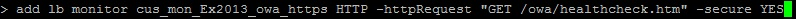 Netcaler 10.1 Custom Monitor NSCLI