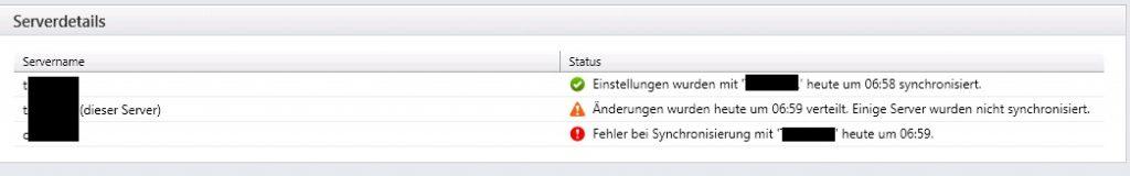 Storefront Server 3.13 Fehler bei Synchronisierung