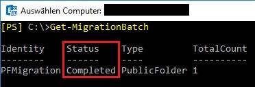Completed MigrationBatch