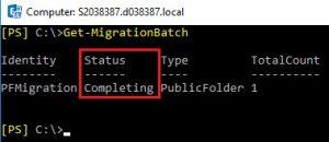 Completing MigrationBatch