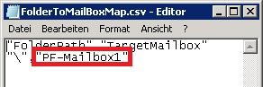 Folder To Mailbox Map