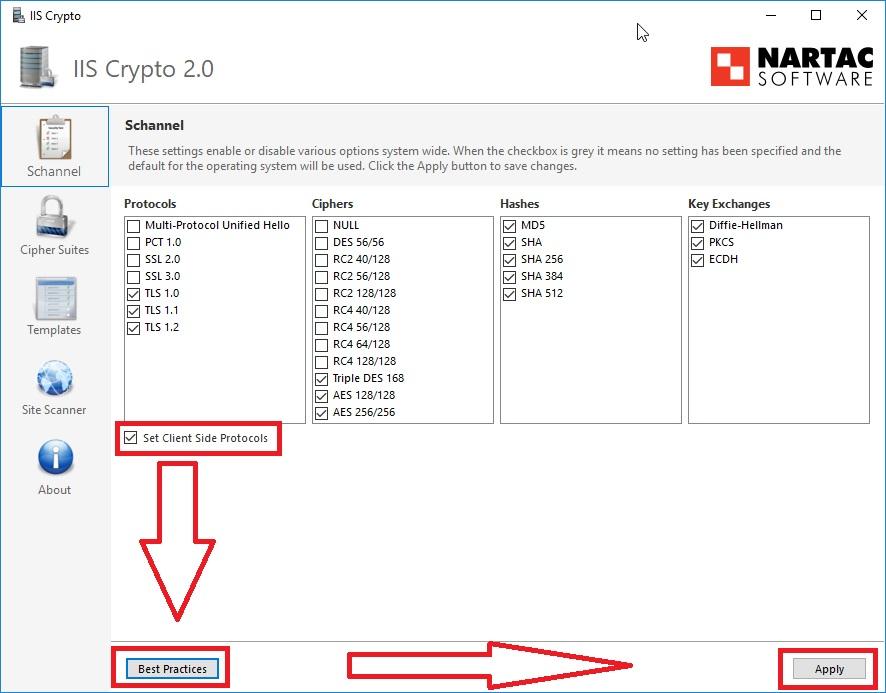 IIS Crypto Exchange IIS Sicherheit