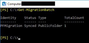 """Migration Batch Status """"Synced"""""""