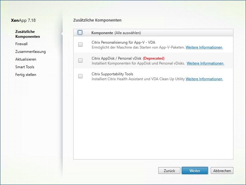 XenApp 7.18 VDA Setup startet
