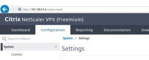 Nachher: Netscaler VPX Express Freemium