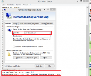 RDP Datei für Connection Broker
