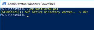 WaitForAD PowerShell