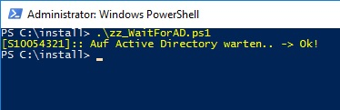 WaitForAD PowerShell