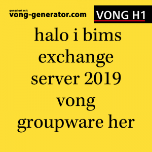halo i bims exchange server 2019 preview