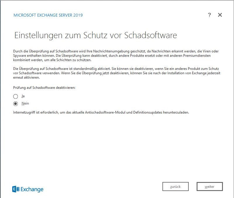 Exchange Server 2019 Schadsoftware