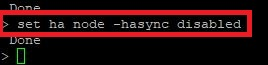 Netscaler Update set ha node -hasync disabled