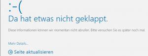 Outlook Web App Koexistenz 2010 2016 Da hat etwas nicht geklappt.
