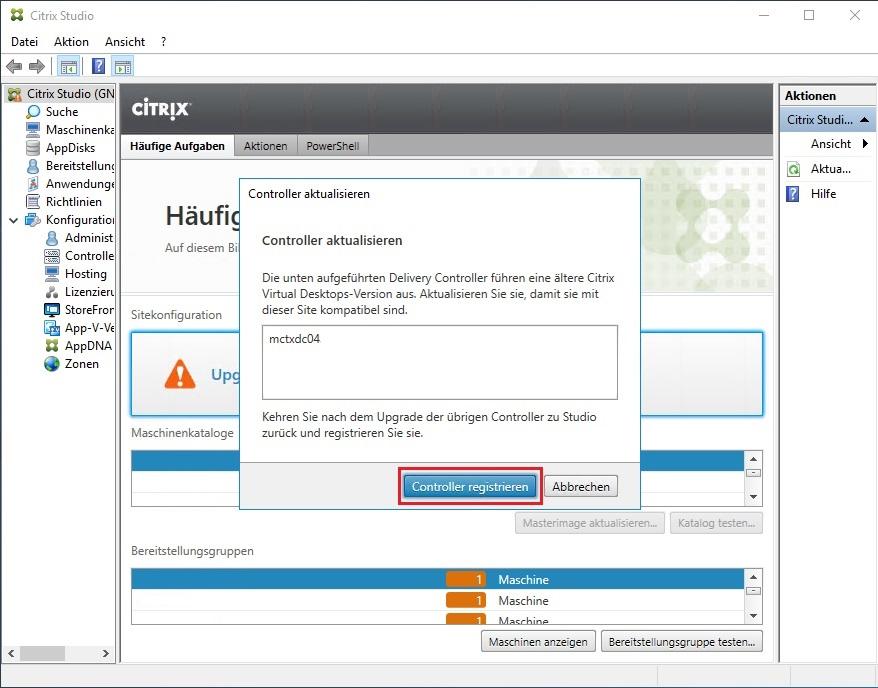 Citrix Virtual Apps & Desktops 1903 Siteupgrade 04