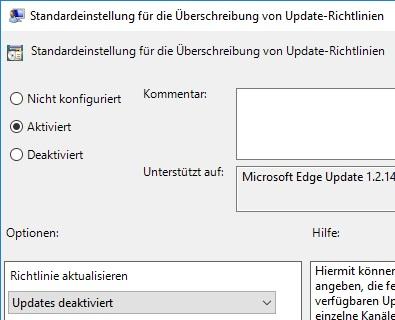 MS Edge GPO Updates deaktiviert